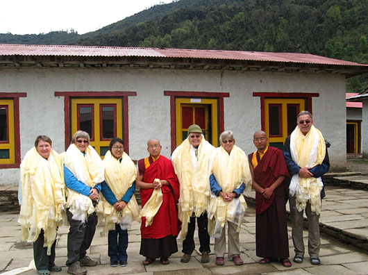 The monks gave us silk scarves before we left Mera.