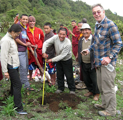 Reforestation Work with the Monks
